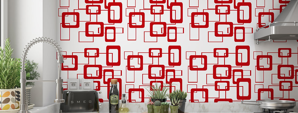 Geometric Wallpaper, Mid Century Modern Wallpaper, Retro Wallpaper