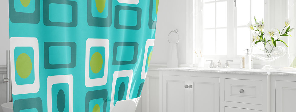 Mid Century Modern Shower Curtain - Buck