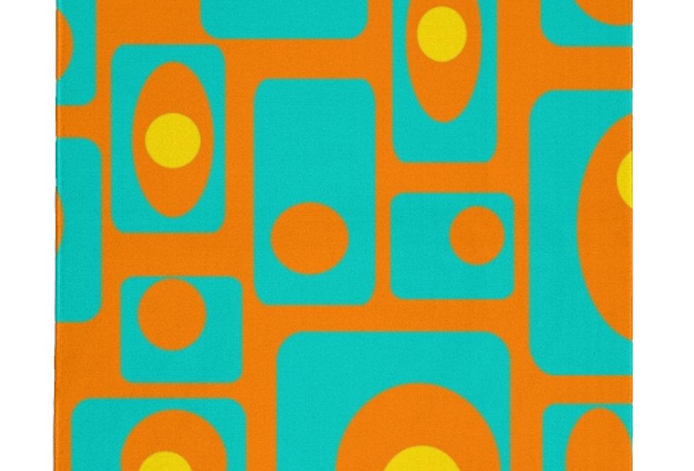 Orange Mid Century Modern Area Rug