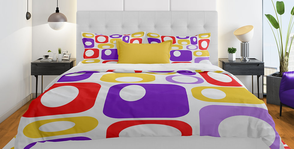 Mid Century Modern 3 pc Duvet Cover Set- Harrison