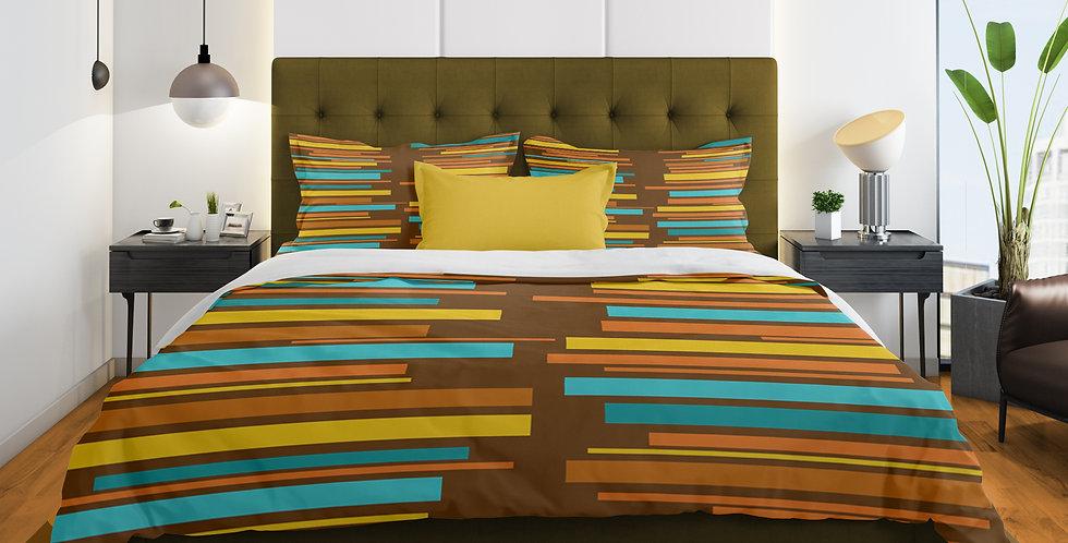 Mid Century Modern 3 pc Duvet Cover Set - Leon