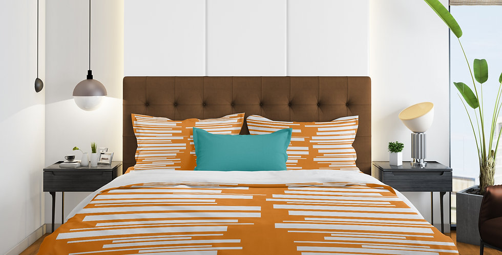 Mid Century Modern 3 pc Duvet Cover Set- Grant