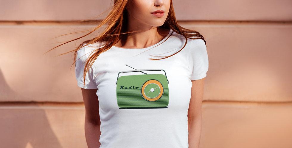 Retro Radio Women's T Shirt/ Green