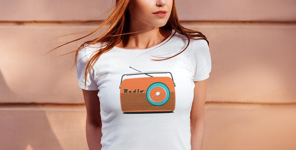 Retro Radio Women's T Shirt/ Orange