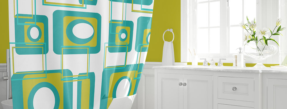 Mid Century Modern Shower Curtain - Otis