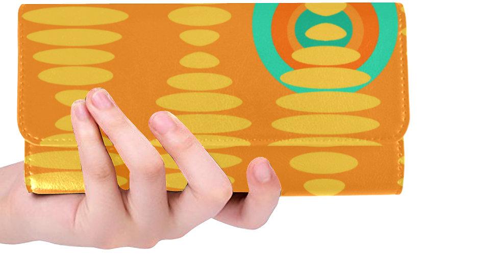 Retro Print Orange Wallet
