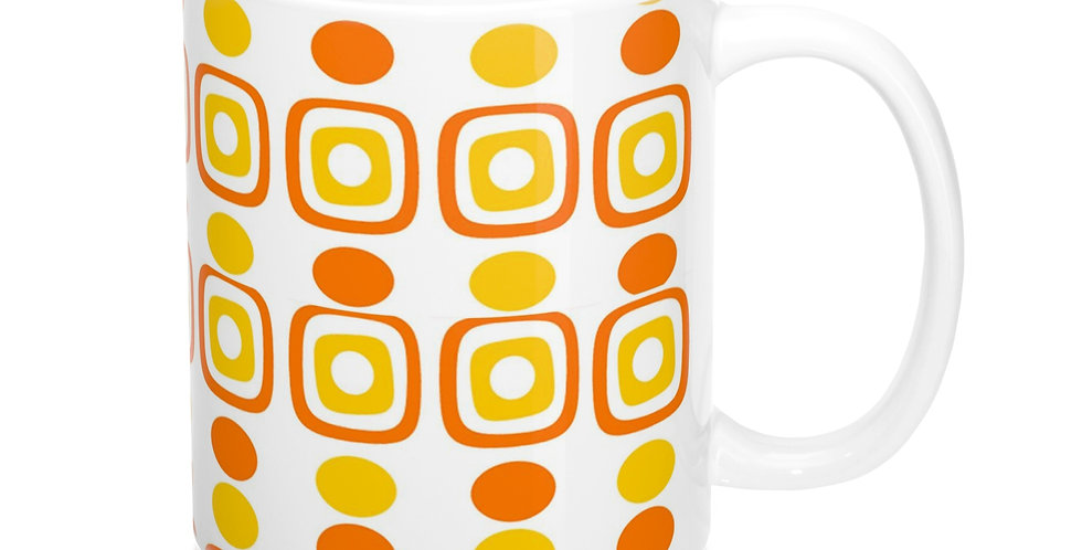 orange retro drink ware