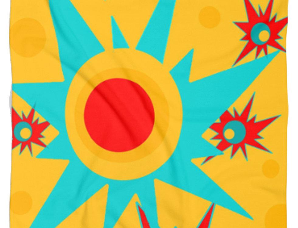 Yellow Starburst  Beach Towel