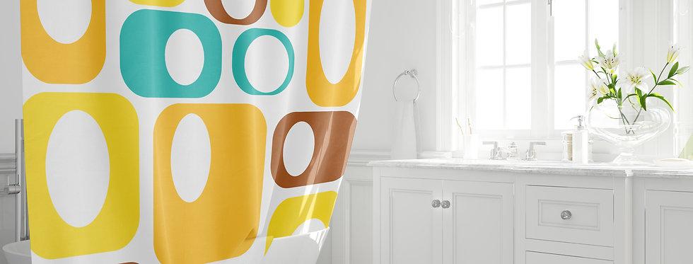 Mid Century Modern Shower Curtain - Claude