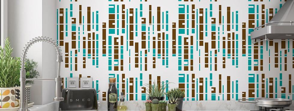 Modern Striped Wallpaper ,Mid Century Modern Wallpaper, Retro Wallpaper, Geometric Wallpaper