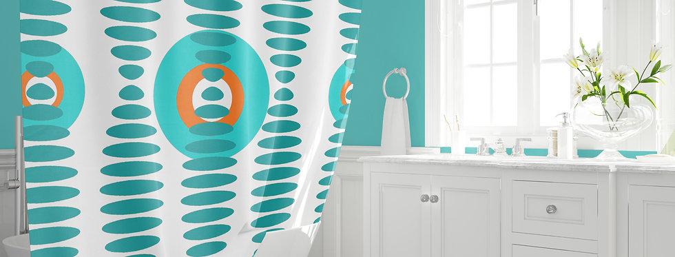Mid Century Modern  Shower Curtain - Willard