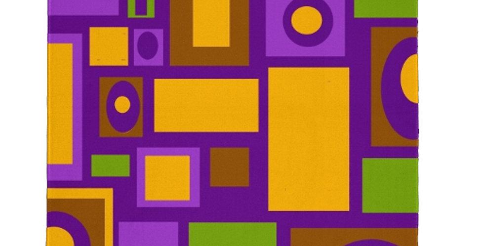 Purple Mid Century Modern Area Rug