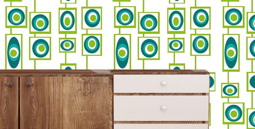Kelly- Mid Century Modern Wallpaper