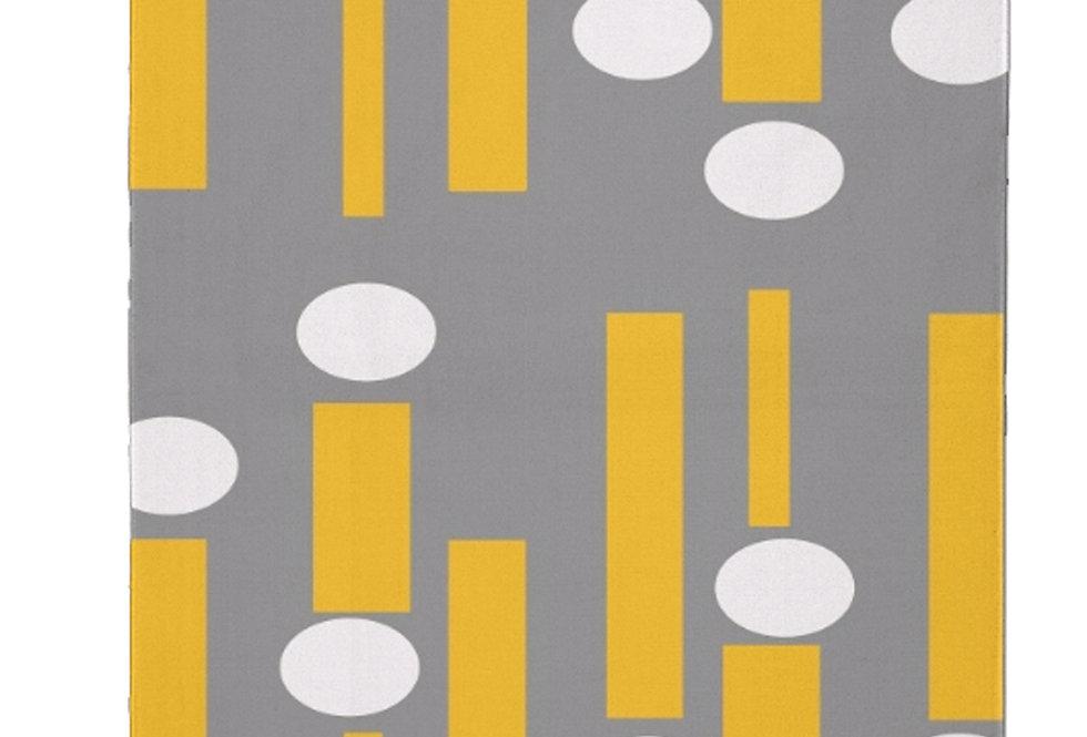 Gray/Yellow Mid Century Modern Area Rug
