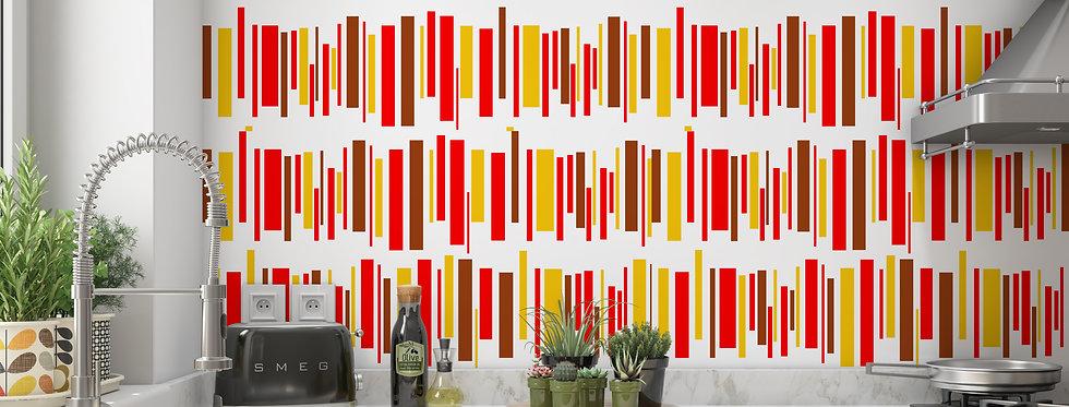 Mid Century Modern Wallpaper, Modern Kitchen Wallpaper