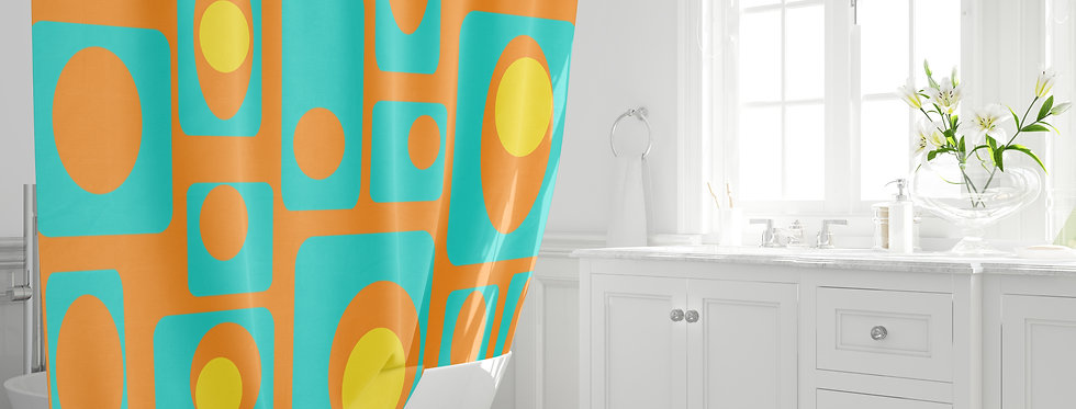 Mid Century Modern  Shower Curtain - Earl