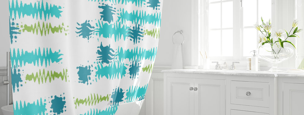 Mid Century Modern Shower Curtain - Clifton