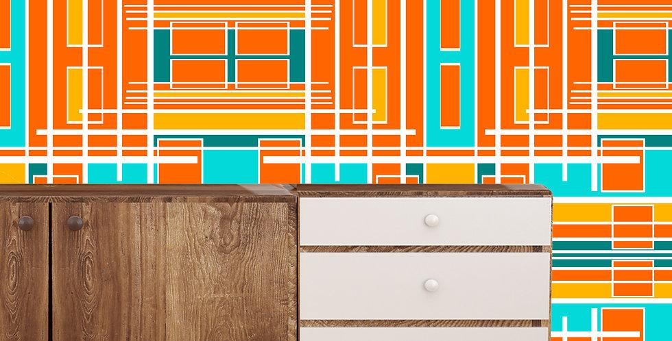 Austin- Mid Century Modern Wallpaper