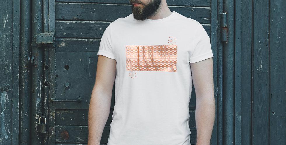 Orange Breeze Block Unisex T Shirt