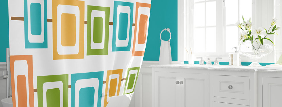Mid Century Modern Shower Curtain - Jeffery
