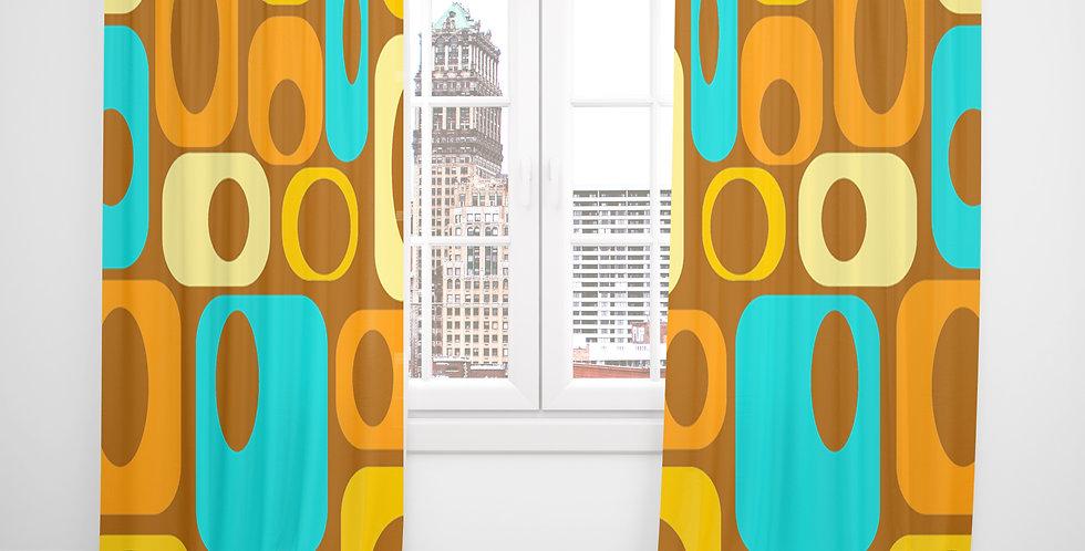 Mid Century Modern Curtains -Clancy