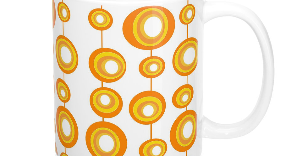 orange mod coffee mug