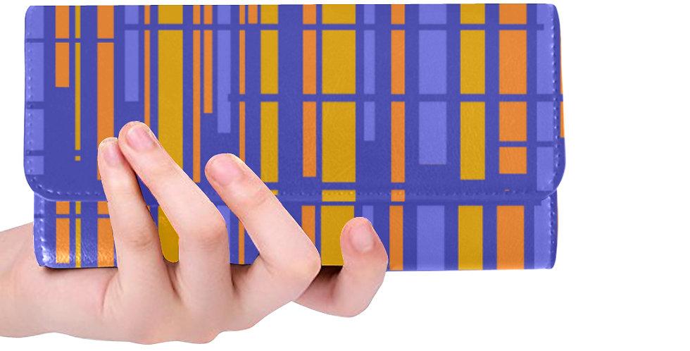Purple /Orange Striped Wallet