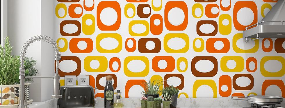 Mid Century Modern Wallpaper, Mod Wallpaper,Modern Wallpaper, Geometric Wallpaper, Retro Wall Art, Retro Wallpaper Roll