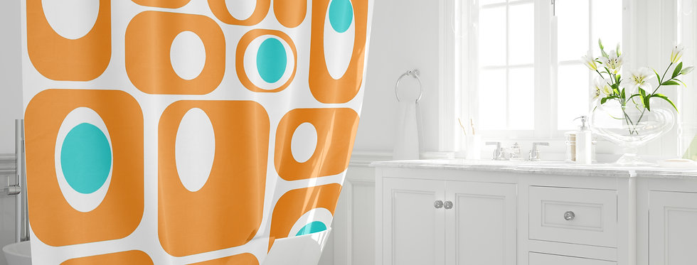 Mid Century Modern Shower Curtain - Meryl