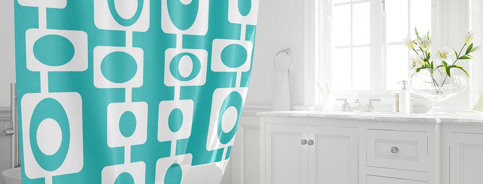Mid Century Modern Shower Curtain - Sebastian