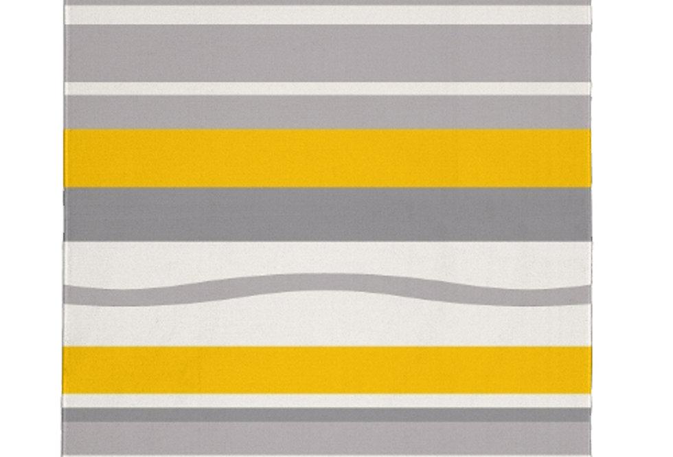 Gray/ Yellow Modern Rug
