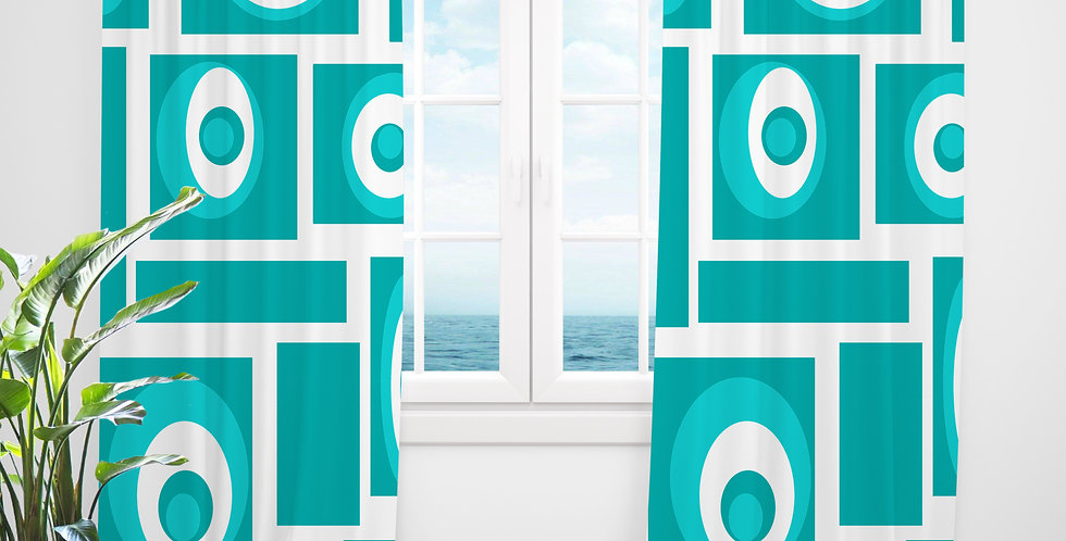 Mid Century Modern Curtains - Charles