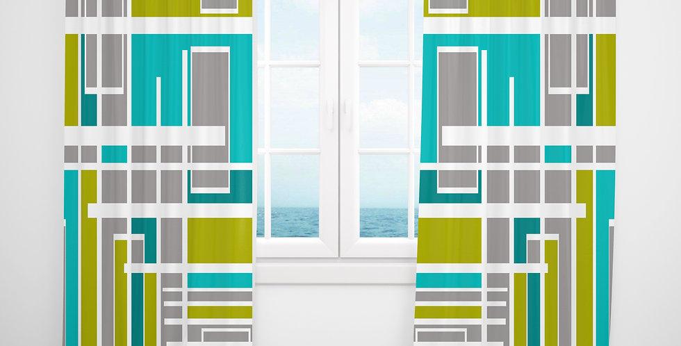 Mid Century Modern Curtains - Skip