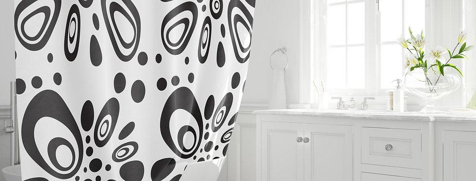Mid Century Modern Shower Curtain - Bosco