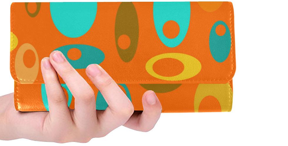 Orange Retro Print wallet
