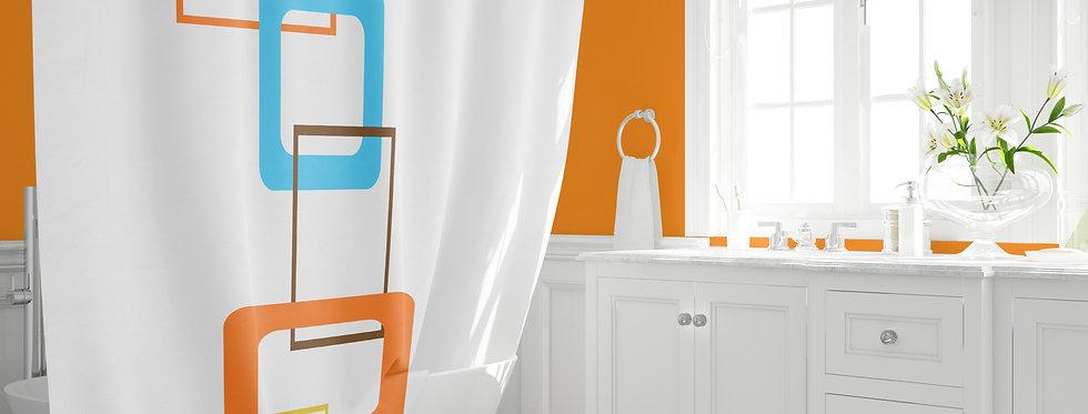 Mid Century Modern Shower Curtain - Flip