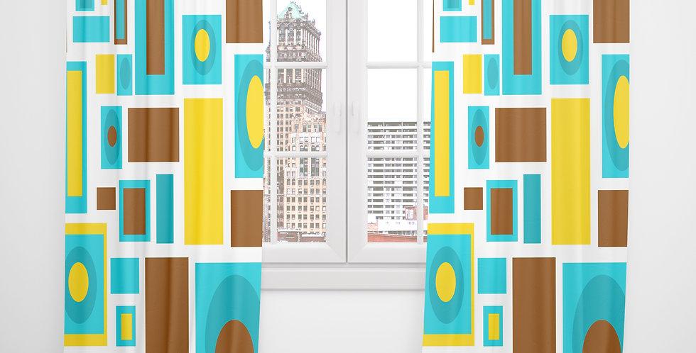 Mid Century Modern Curtains -Ellis