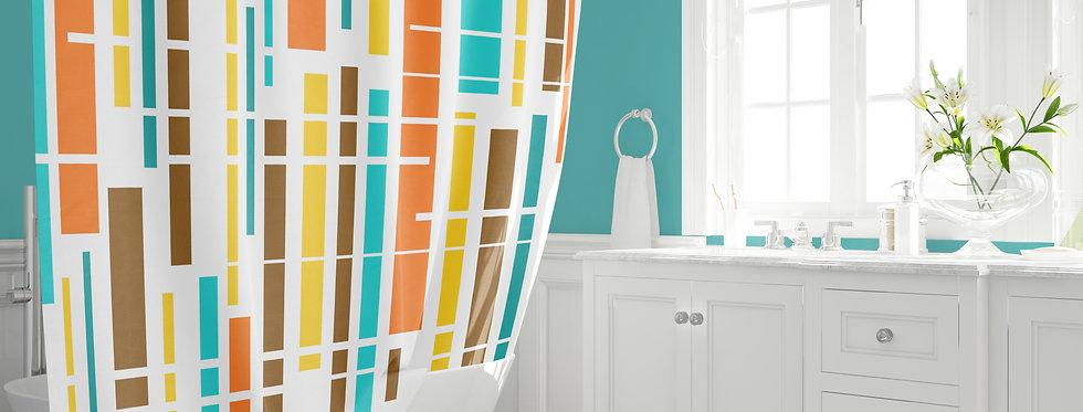 Mid Century Modern Shower Curtain - Duncan
