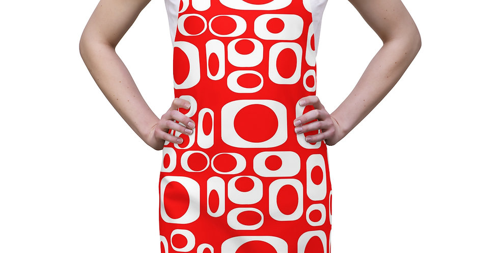 Red Cube Modern Apron