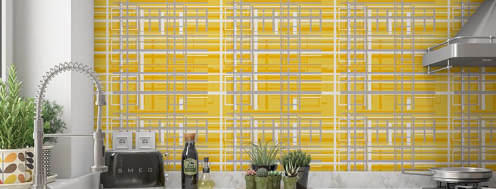 Mid Century Modern Wallpaper, Mod Wallpaper,Modern Wallpaper,Yellow Geometric Wallpaper, Retro Wallpaper