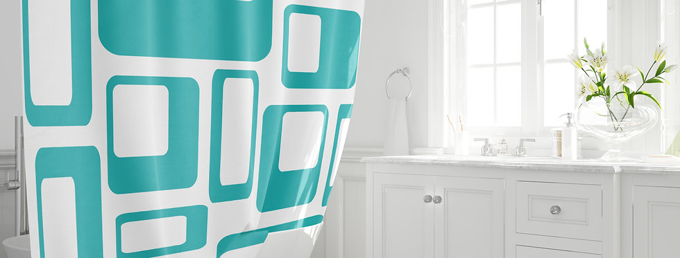 Mid Century Modern Shower Curtain - Kane