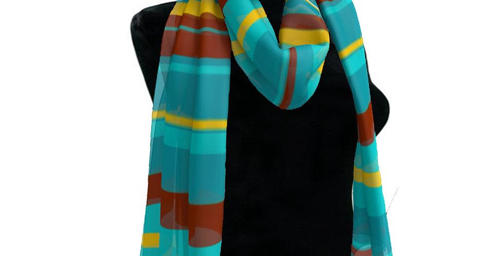 Blue/Brown Stripe Scarf