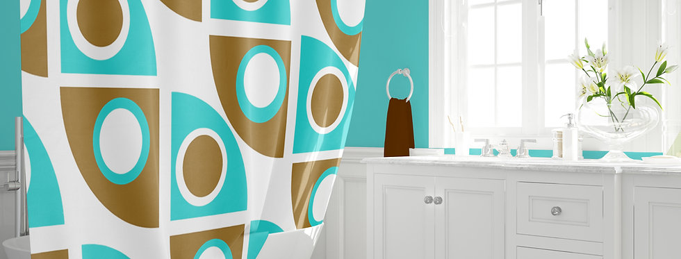 Mid Century Modern Shower Curtain Zachary