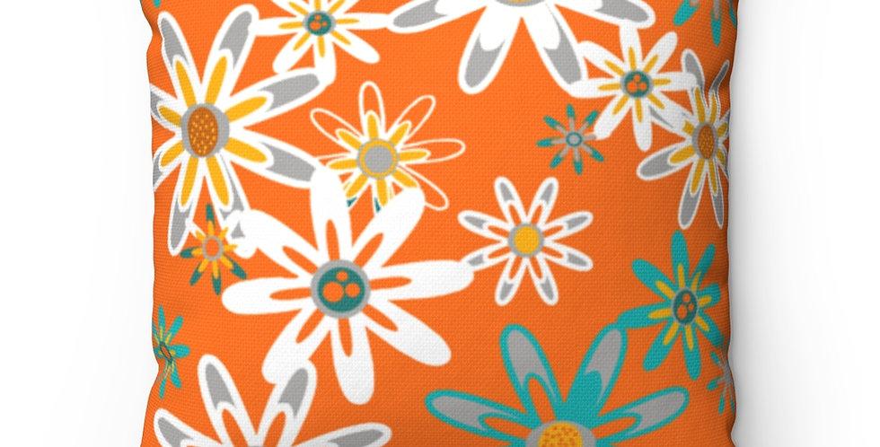 Modern Outdoor Pillow,Mid Century Modern Outdoor Pillow, Orange Outdoor Pillow,Floral Outdoor Pillow, Colorful Outdoor Pillow