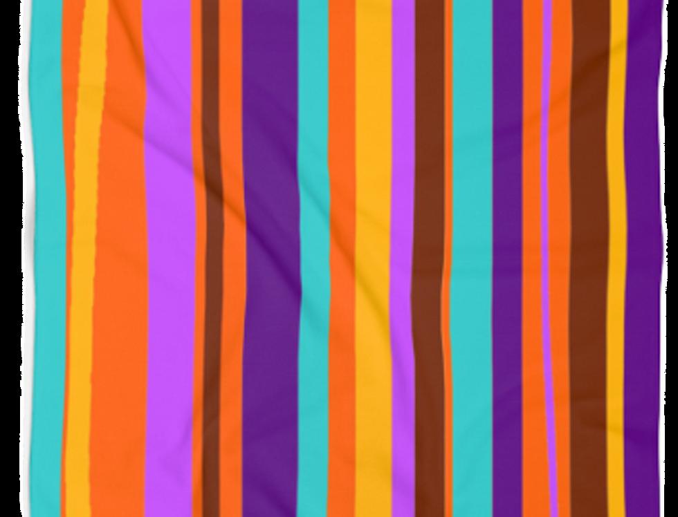 Purple Stripes Beach Towel