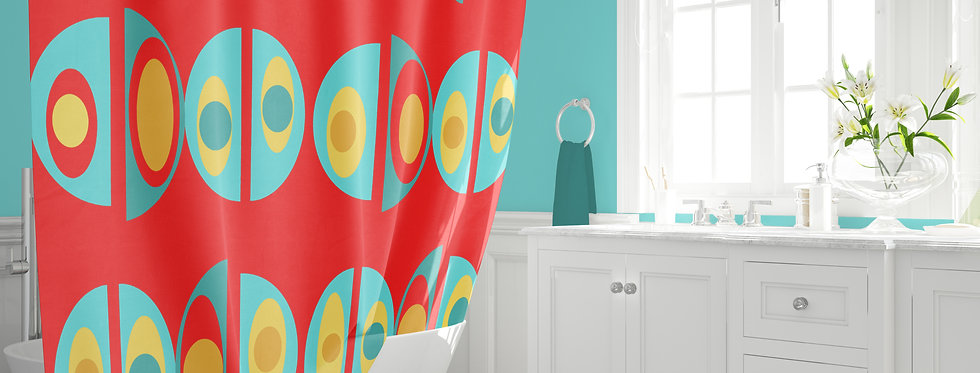 Mid Century Modern Shower Curtain - Damien
