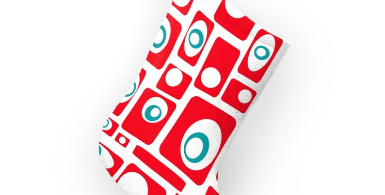 Mid Century Modern Christmas Stocking 0001