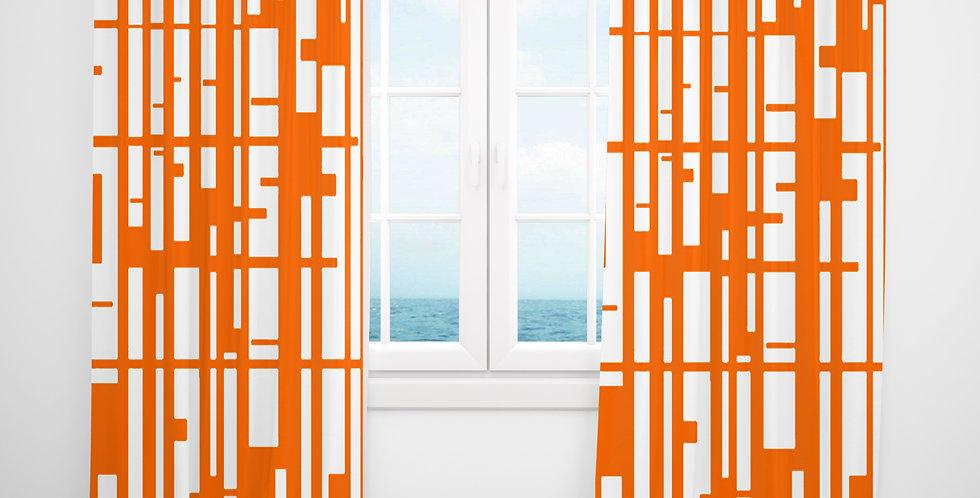 Mid Century Modern Curtains - Nathaniel