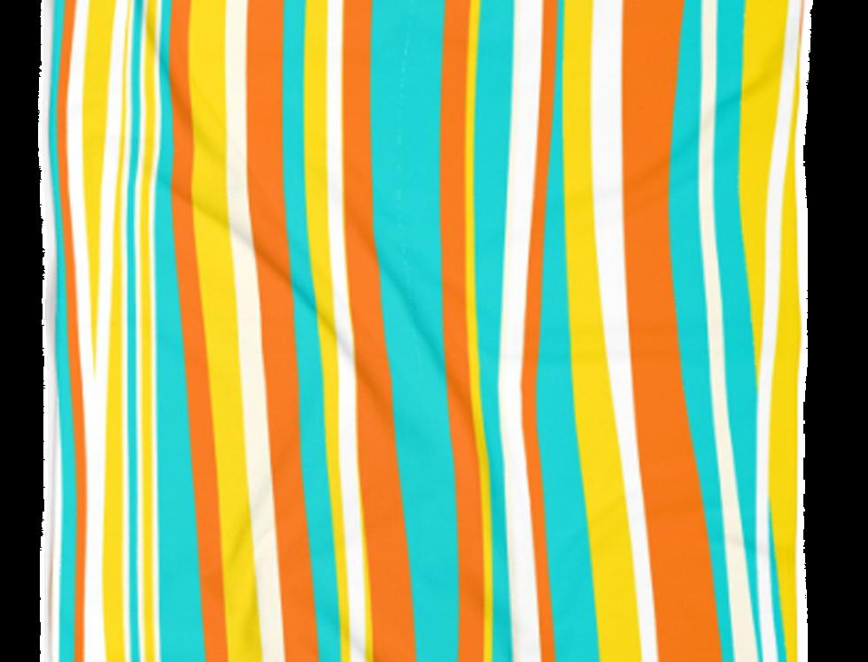 Orange Waves Beach Towel
