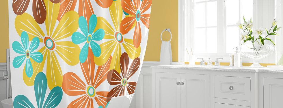 Mid Century Modern Shower Curtain - Kyle